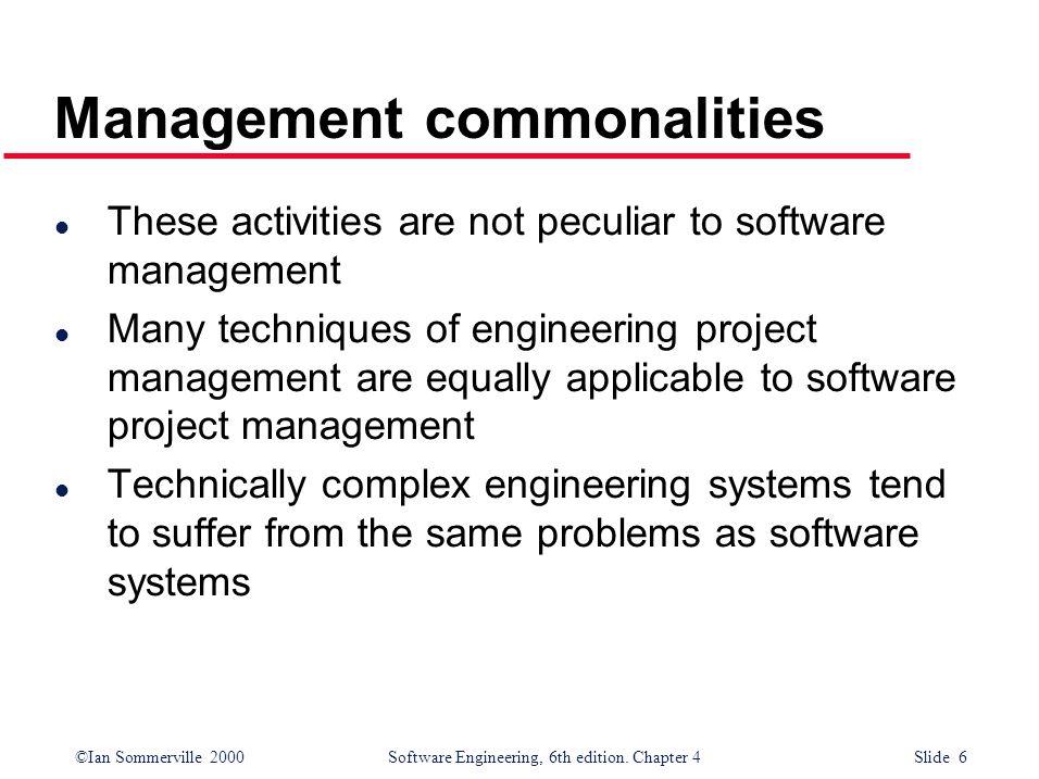 Management commonalities