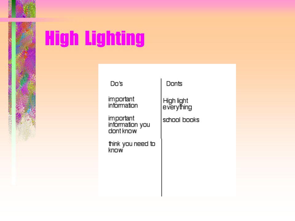 High Lighting