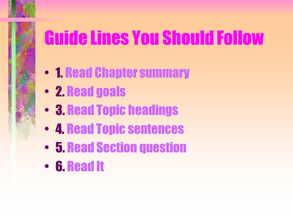 Guide Lines You Should Follow