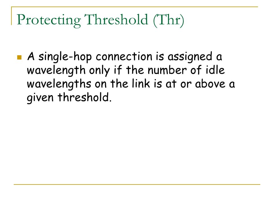 Protecting Threshold (Thr)