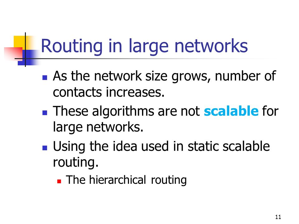 Routing in large networks