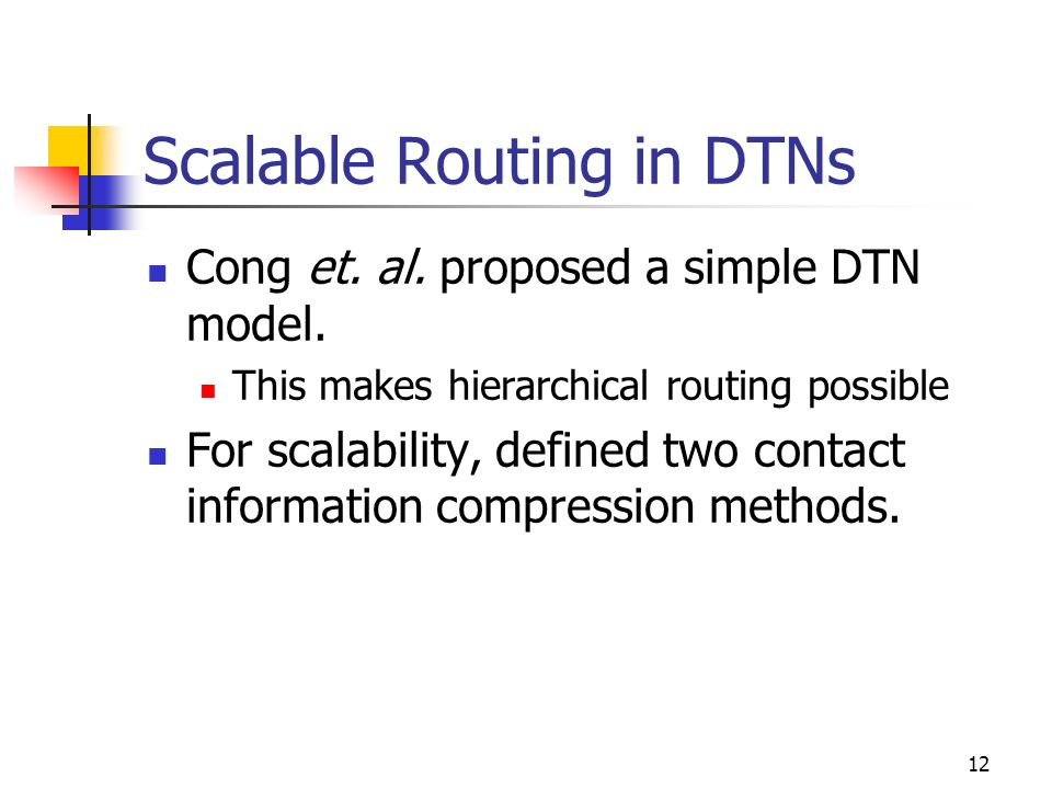 Scalable Routing in DTNs