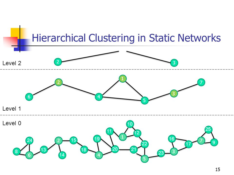 Hierarchical Clustering in Static Networks