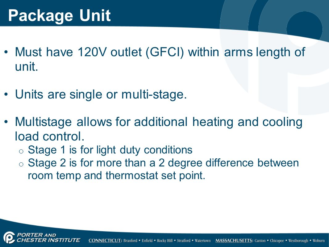Multi stage heating and cooling - 28 Package