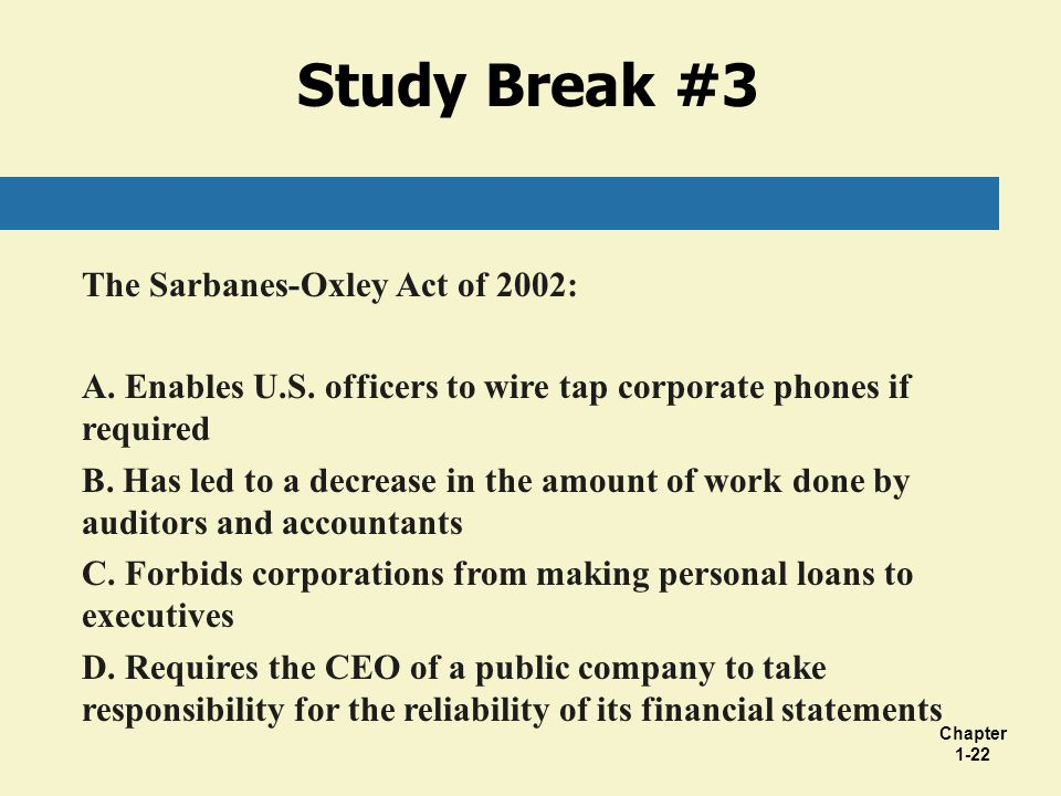 an analysis of sarbanes oxley act of 2002 Sarbanes-oxley act article analysis 2 sarbanes-oxley act article analysis the public company accounting reform, more commonly known as the sarbanes-oxley act of 2002, or sox, was enacted in 2002 after dishonesty and corporate fraud by companies such as enron, tyco, worldcom, and adelphia.