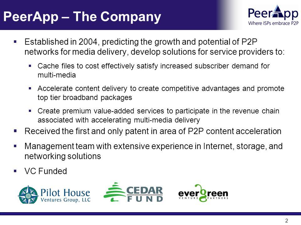 PeerApp – The Company