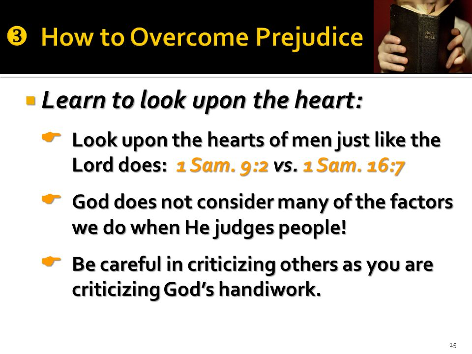 How to Overcome Prejudice