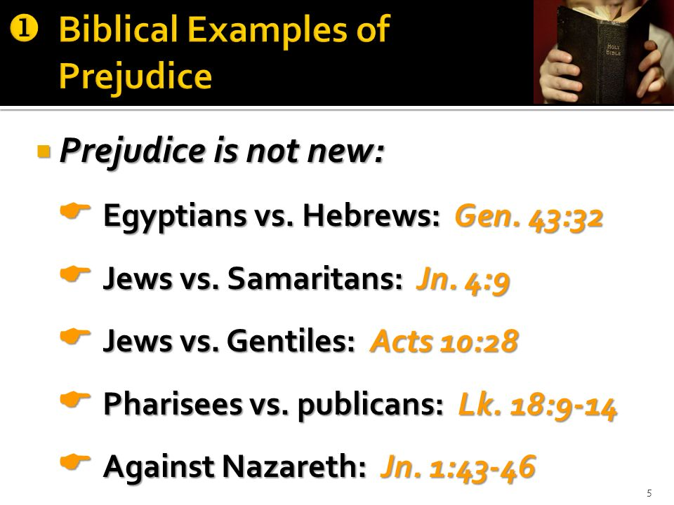 Biblical Examples of Prejudice