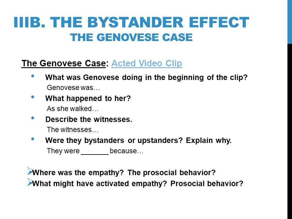 problems of the bystander effect essay The by-stander effect essay sample so you may ask yourself why do we automatically ignore the problem one of the first steps in anyone's decision one reason that the bystander effect occurs in social places is known as diffusion of responsibility through numerous studies, psychologists.