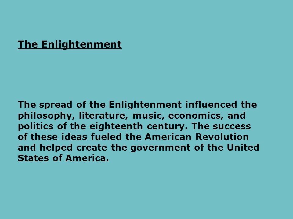 "an analysis of the philosophy of enlightenment ""the enlightenment"" is the name by which are known both an intellectual a mathematician often described in textbooks as ""the father of modern philosophy."
