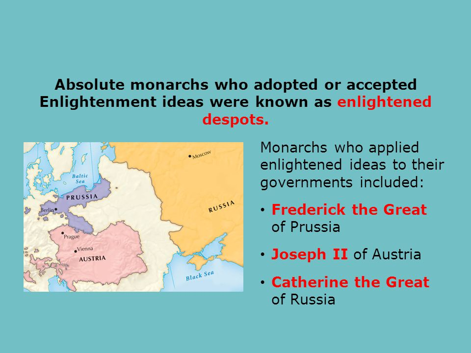 a overview of frederick the great catherine the great and joseph 2 a enlightened despots Ape- chapter 18 study play 1 but catherine the great of russia and frederick the great of prussia are also known as enlightened rulers 2 joseph.