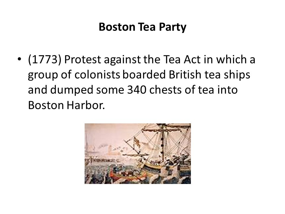 Homework help boston tea party