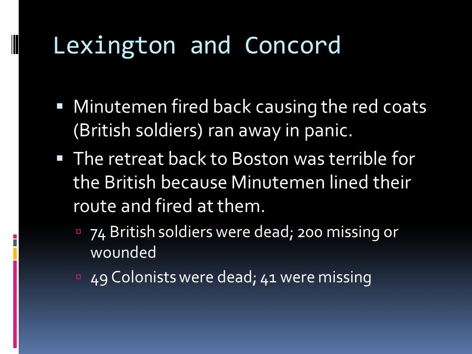 lexington and concord who fired first Battles of lexington and concord part of the american revolutionary war 300px romanticized  all now said the british fired first at lexington, whereas fifty or.