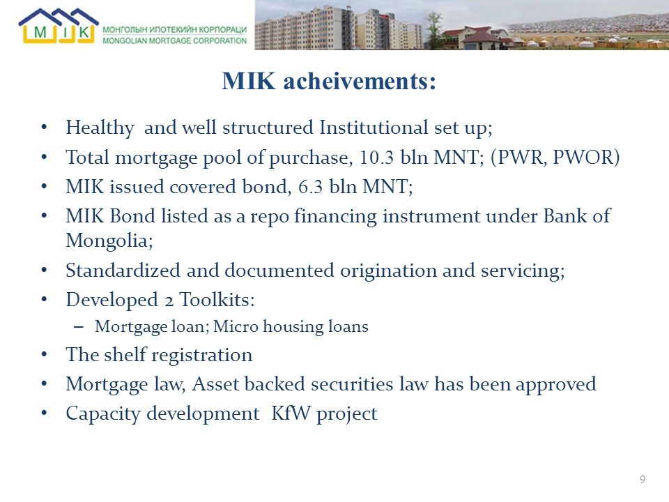 МIK acheivements: Healthy and well structured Institutional set up;