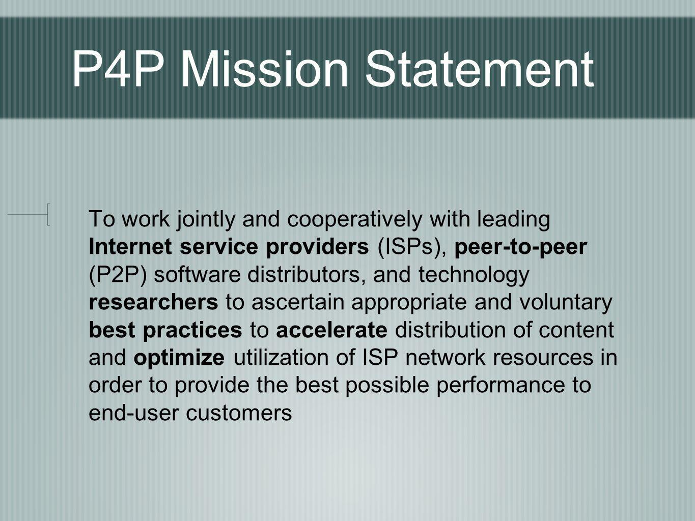 P4P Mission Statement