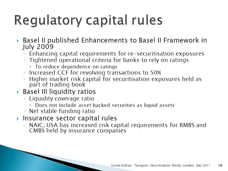 Regulatory capital rules