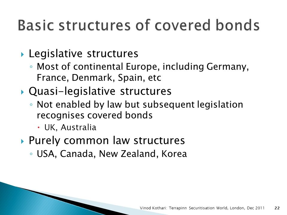 Basic structures of covered bonds