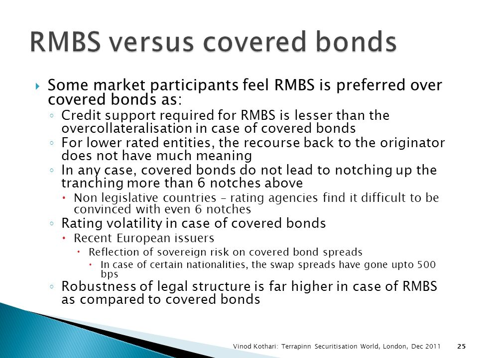 RMBS versus covered bonds