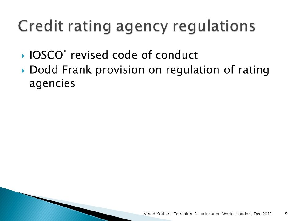 Credit rating agency regulations