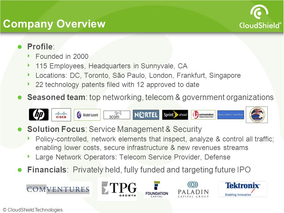 Company Overview Profile:
