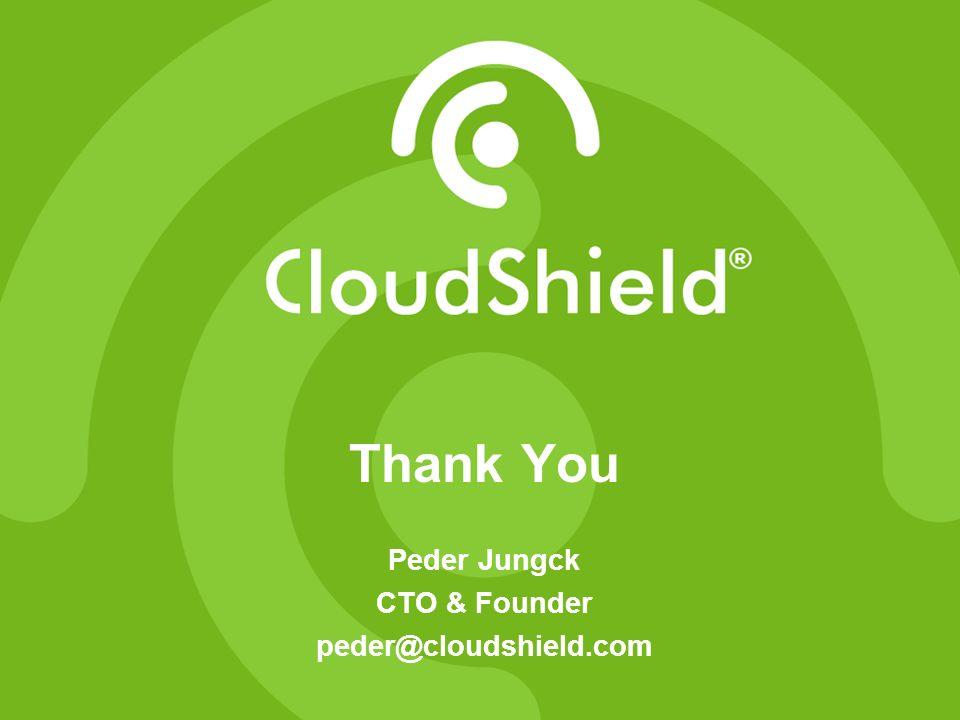 3/28/2017 Thank You Peder Jungck CTO & Founder peder@cloudshield.com