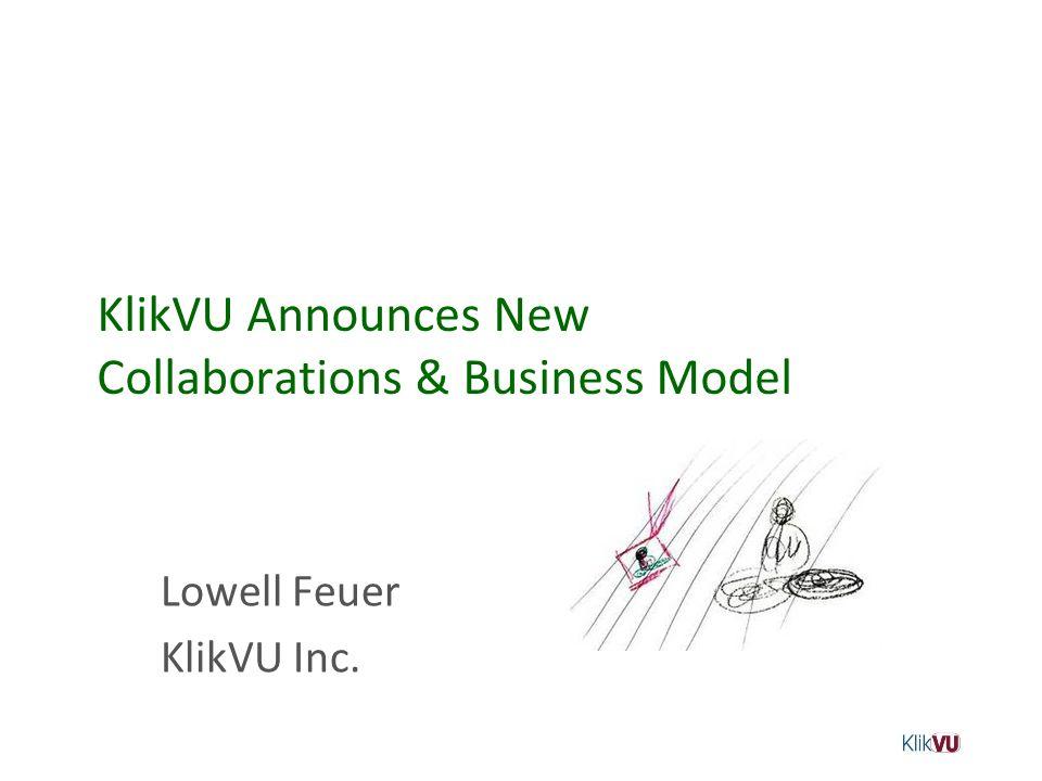 KlikVU Announces New Collaborations & Business Model
