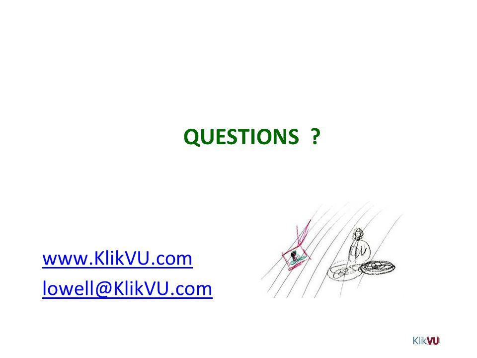 www.KlikVU.com lowell@KlikVU.com