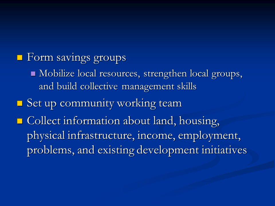 Set up community working team