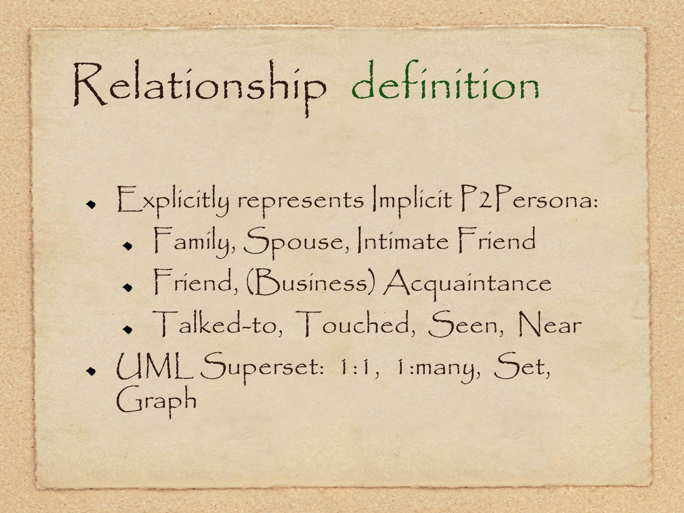 Relationship definition