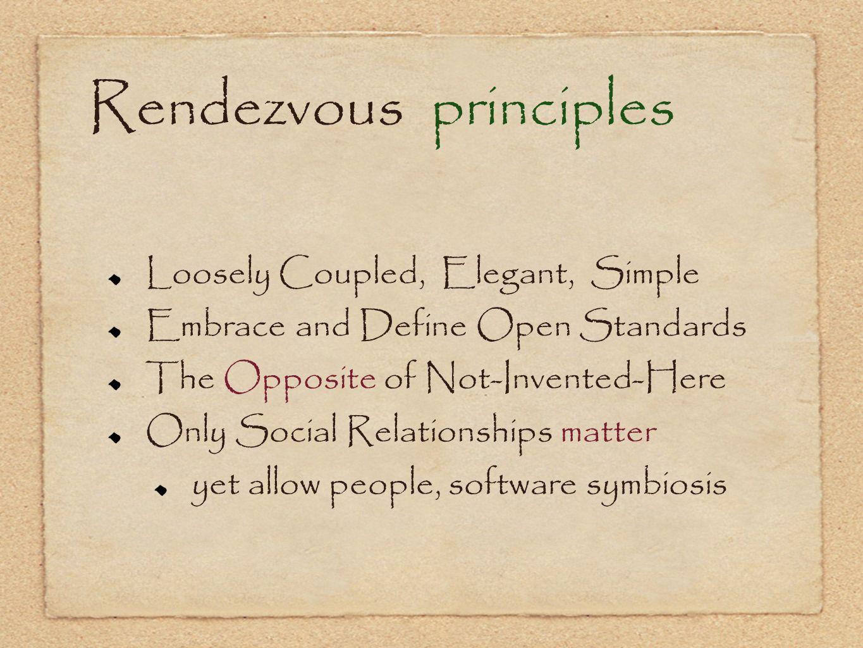 Rendezvous principles