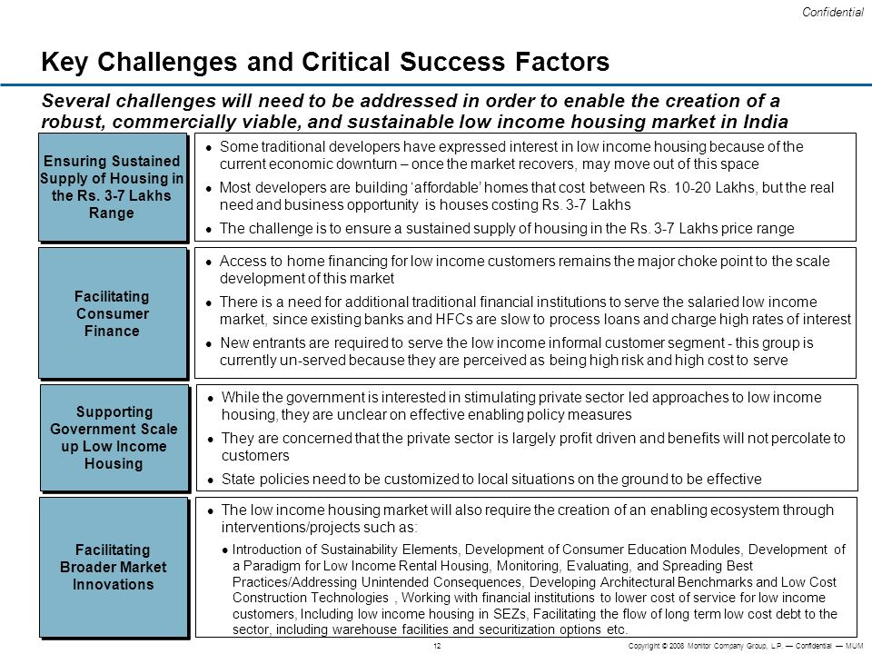 Key Challenges and Critical Success Factors