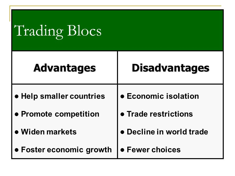 advantages of bilateral trade agreements