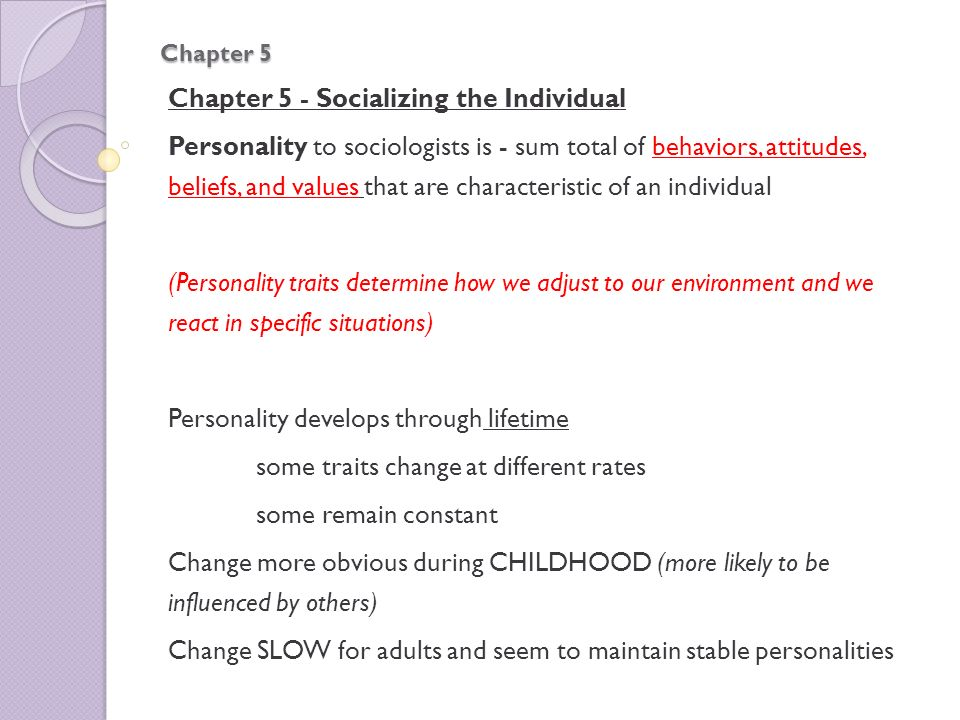 Chapter 5 - Socializing the Individual - ppt video online download