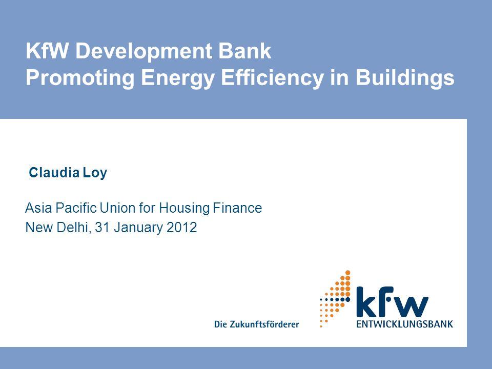 KfW Development Bank Promoting Energy Efficiency in Buildings