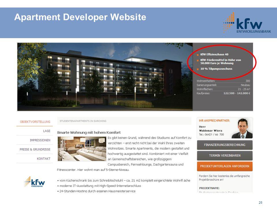 Apartment Developer Website