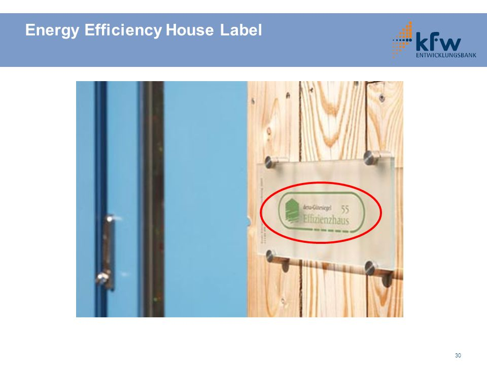Energy Efficiency House Label