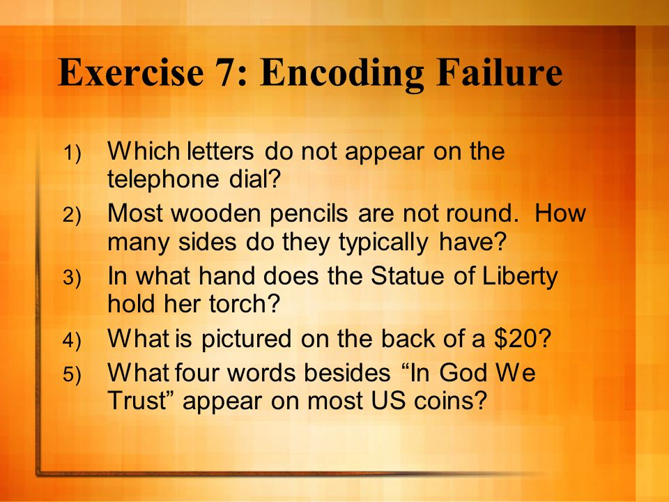 Exercise 7: Encoding Failure