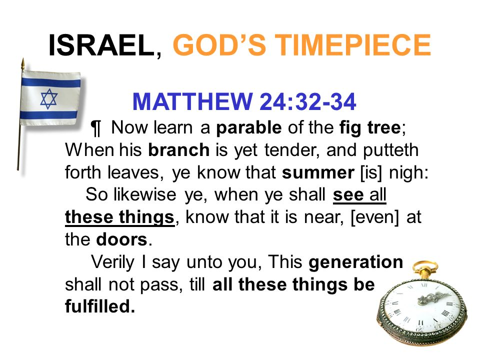 ISRAEL, GOD'S TIMEPIECE