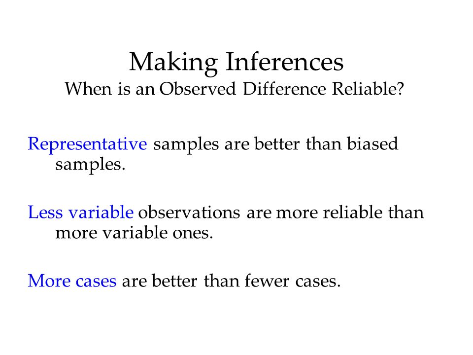 When is an Observed Difference Reliable