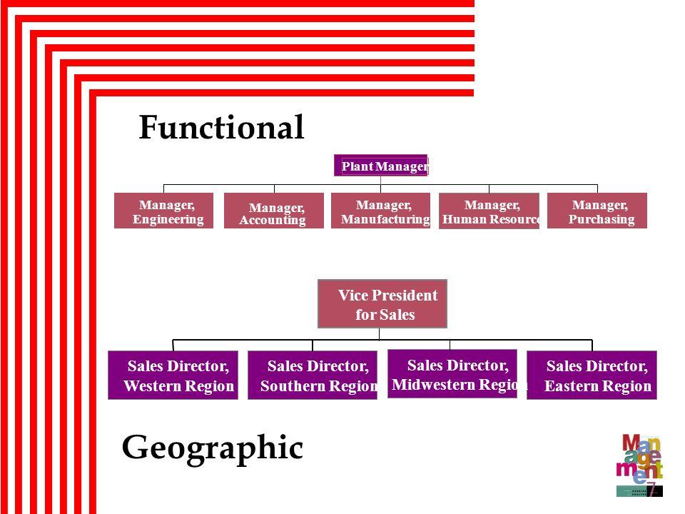 Functional Geographic Sales Director, Western Region Southern Region