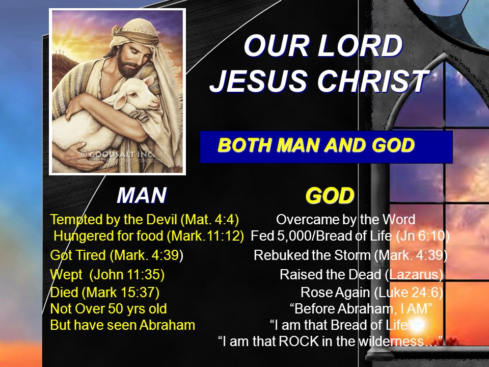 OUR LORD JESUS CHRIST MAN GOD BOTH MAN AND GOD