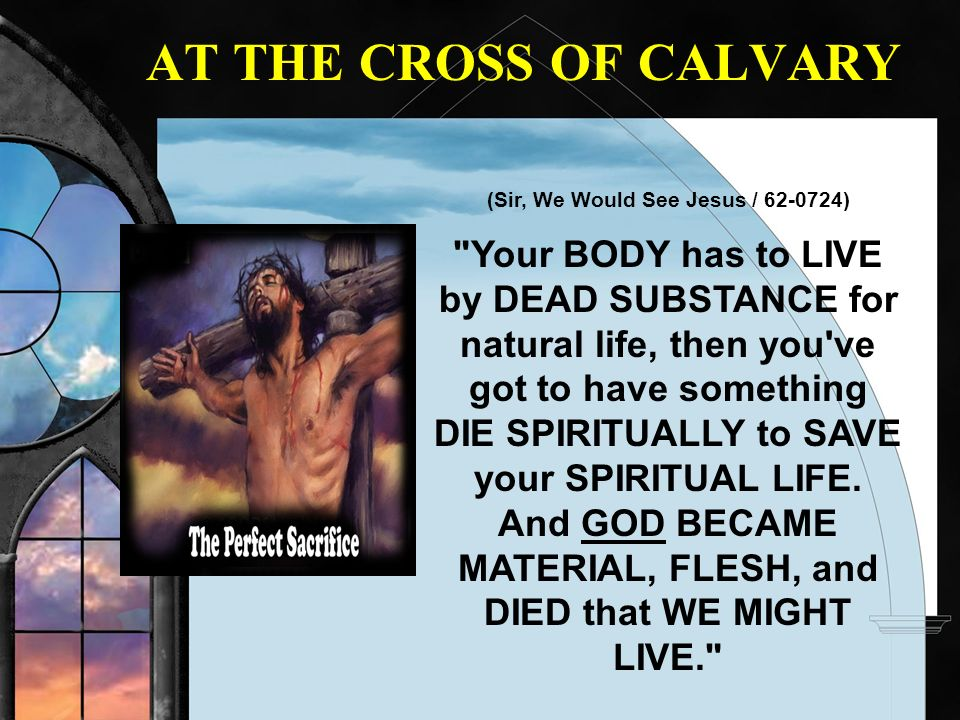 AT THE CROSS OF CALVARY