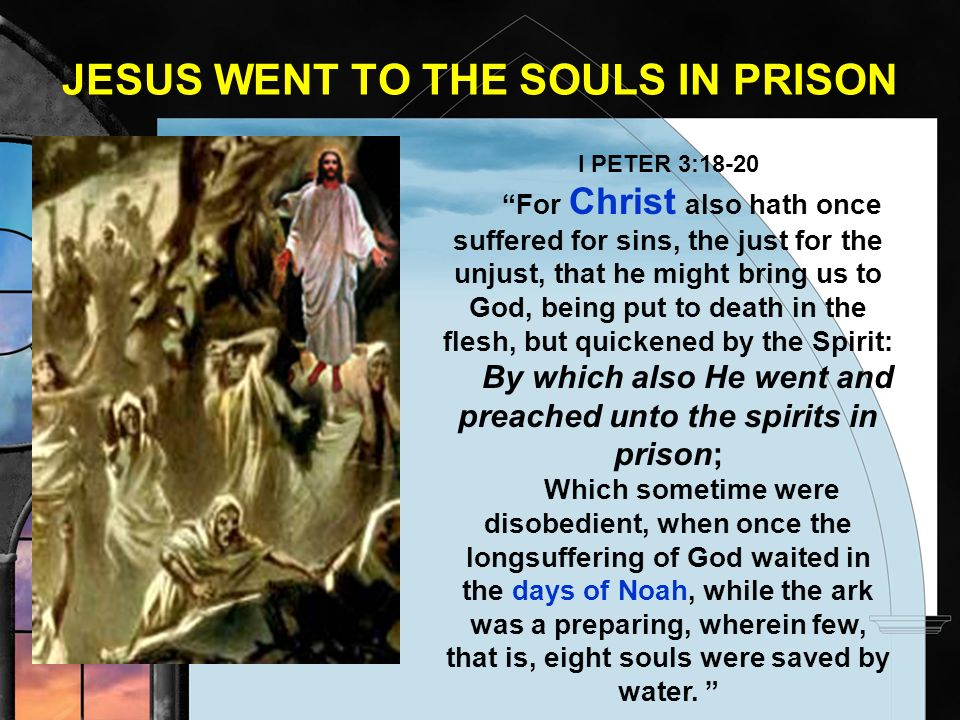 JESUS WENT TO THE SOULS IN PRISON