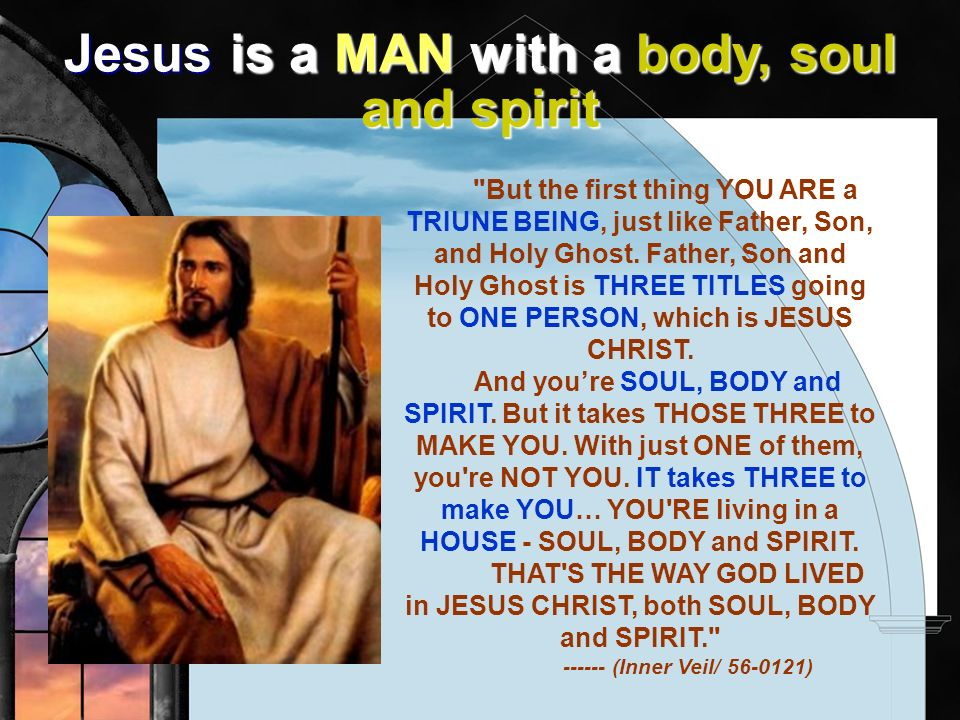 Jesus is a MAN with a body, soul and spirit