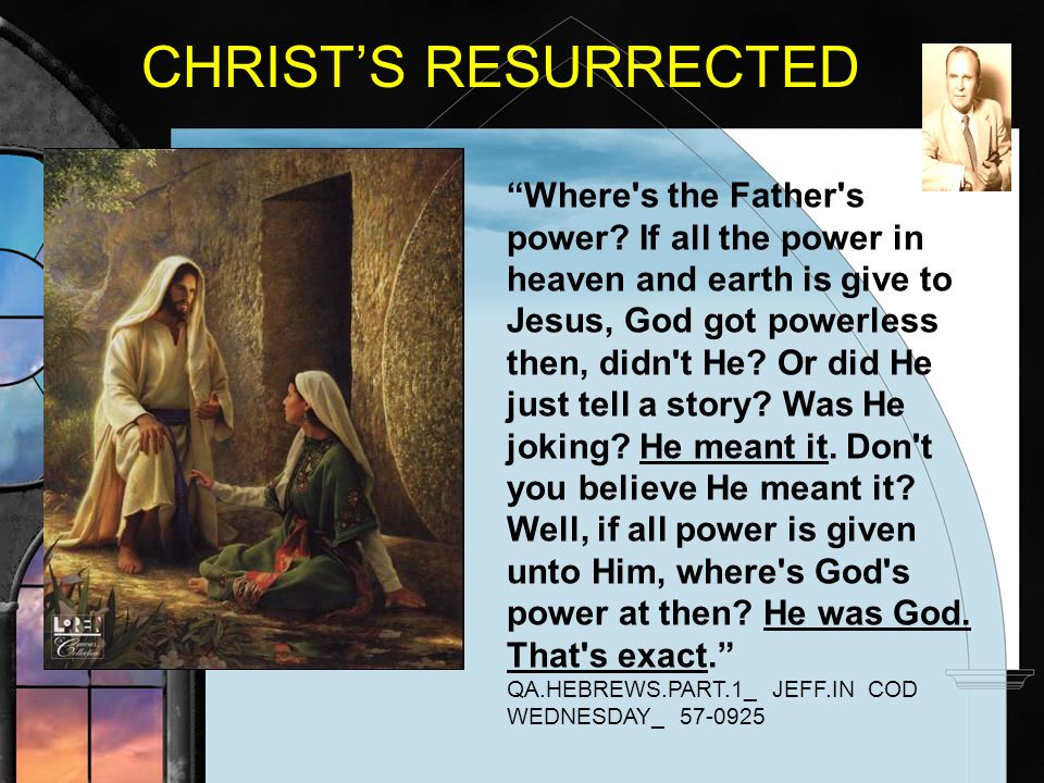 CHRIST'S RESURRECTED