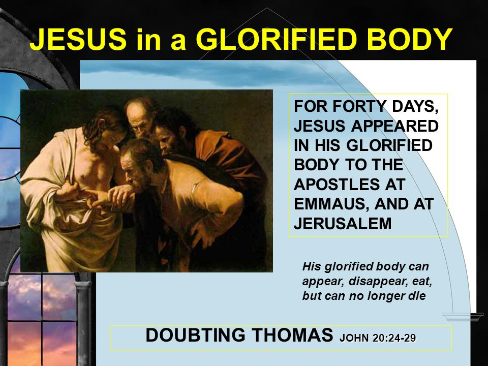 JESUS in a GLORIFIED BODY