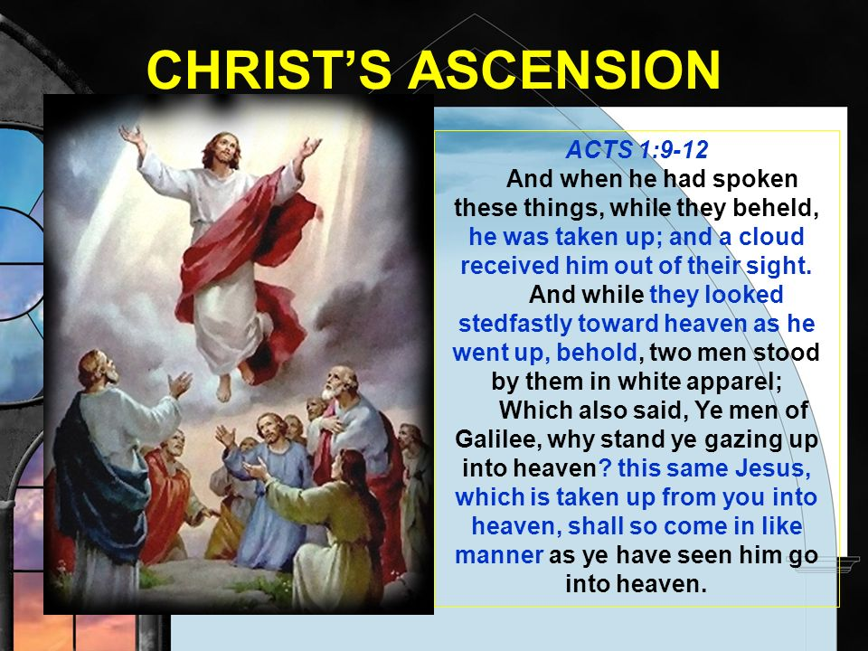 CHRIST'S ASCENSION ACTS 1:9-12
