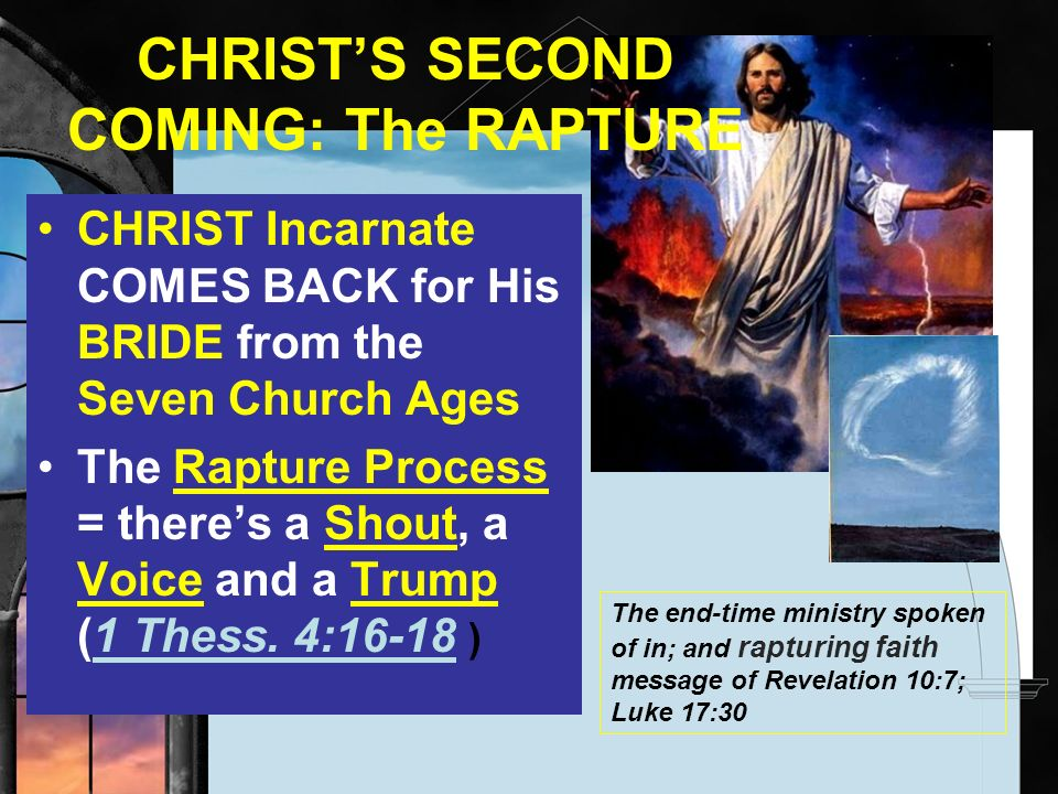 CHRIST'S SECOND COMING: The RAPTURE