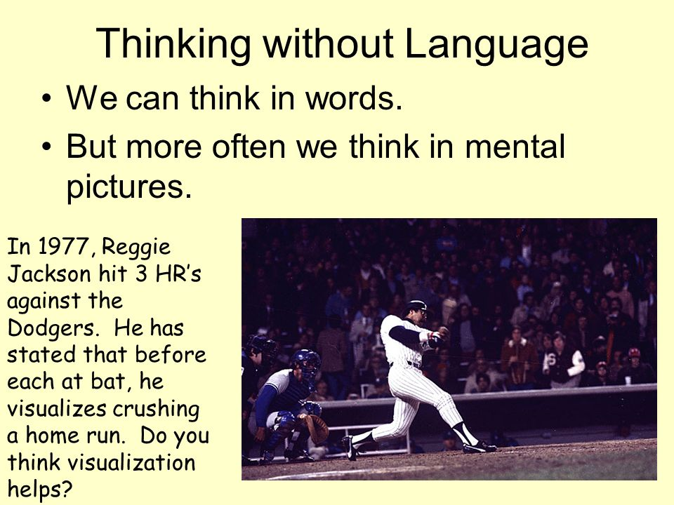 Thinking without Language