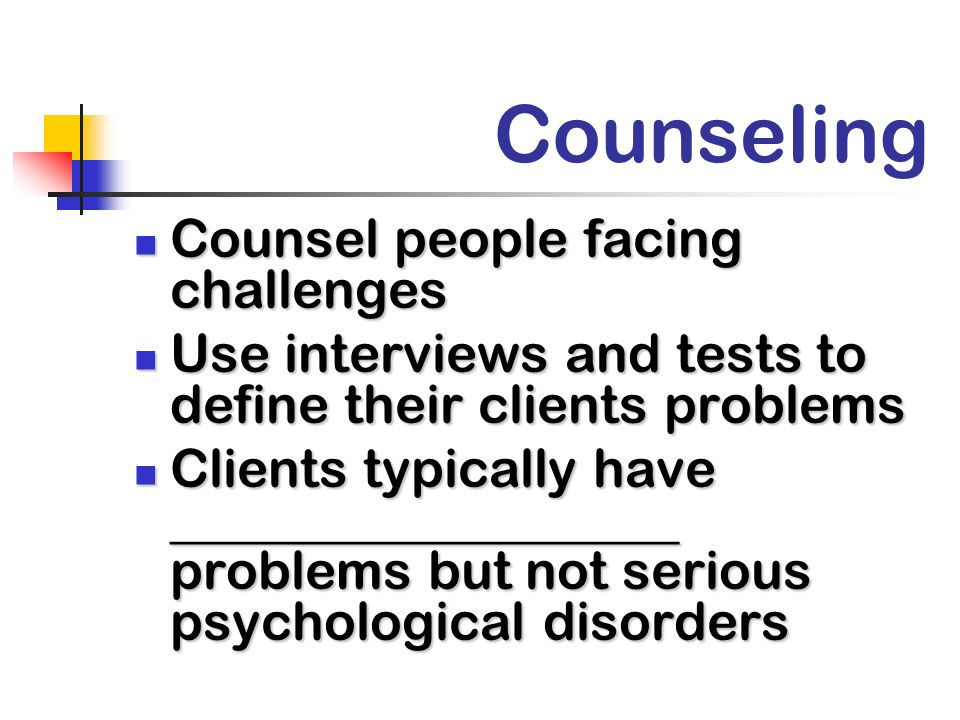 Counseling Counsel people facing challenges